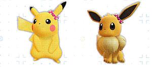 Accessoire Noeud à Pois Let's Go Pikachu et Let's Go Évoli