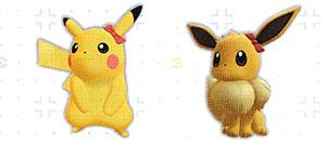 Accessoire Noeud Rouge Let's Go Pikachu et Let's Go Évoli