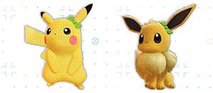 Accessoire Noeud Vert Let's Go Pikachu et Let's Go Évoli