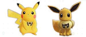 Accessoire Ruban à Carreaux Let's Go Pikachu et Let's Go Évoli