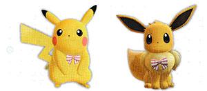 Accessoire Ruban Mignon Let's Go Pikachu et Let's Go Évoli