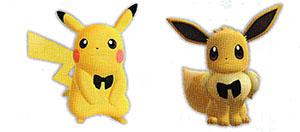 Accessoire Ruban Noir Let's Go Pikachu et Let's Go Évoli