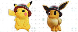Chapeau Élégant Pokémon Let's Go Pikachu et Let's Go Évoli