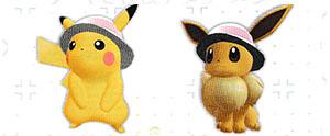 Chapeau Mignon Pokémon Let's Go Pikachu et Let's Go Évoli