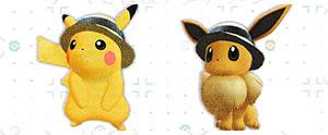 Chapeau de Paille Pokémon Let's Go Pikachu et Let's Go Évoli