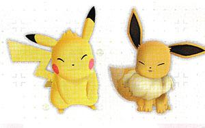 Coiffure des starters Pokémon Let's Go Pikachu et Let's Go Évoli