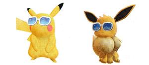 Lunettes Estivales Let's Go Pikachu et Let's Go Évoli