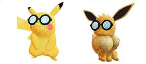 Lunettes Rondes Let's Go Pikachu et Let's Go Évoli