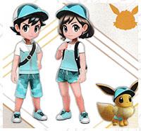 Tenue Aquali Pokémon Let's Go Pikachu et Let's Go Évoli