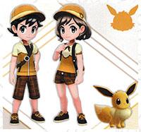 Tenue Évoli Pokémon Let's Go Pikachu et Let's Go Évoli