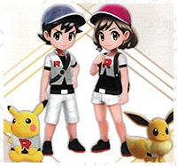 Tenue J&J Pokémon Let's Go Pikachu et Let's Go Évoli