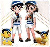 Tenue de Marin Pokémon Let's Go Pikachu et Let's Go Évoli