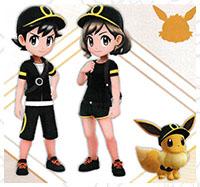 Tenue Noctali Pokémon Let's Go Pikachu et Let's Go Évoli