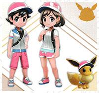 Tenue Nymphali Pokémon Let's Go Pikachu et Let's Go Évoli