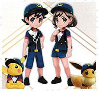 Tenue Patrouille Pokémon Let's Go Pikachu et Let's Go Évoli