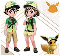 Tenue Phyllali Pokémon Let's Go Pikachu et Let's Go Évoli