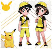 Tenue Pikachu Pokémon Let's Go Pikachu et Let's Go Évoli