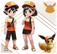 Tenue Pyroli Pokémon Let's Go Pikachu et Let's Go Évoli