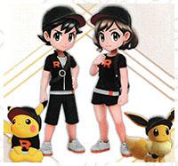 Tenue Rocket Pokémon Let's Go Pikachu et Let's Go Évoli