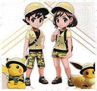 Tenue Safari Pokémon Let's Go Pikachu et Let's Go Évoli