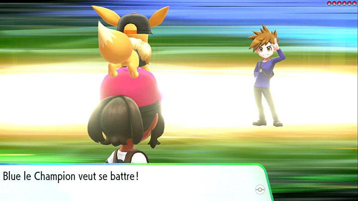 Combat contre Blue sur Pokémon Let's Go Pikachu et Let's Go Évoli