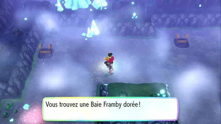 Objets dans la Caverne Azurée - Pokémon Let's Go Pikachu et Évoli