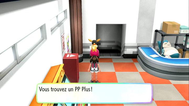 Objets dans la salle d'arcade Rocket à Céladopole - Pokémon Let's Go Pikachu et Évoli
