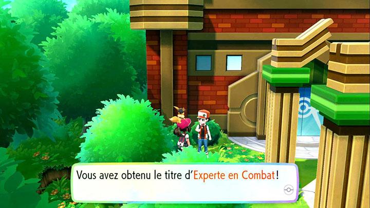 Combat contre Red Pokémon Let's Go Pikachu et Let's Go Évoli
