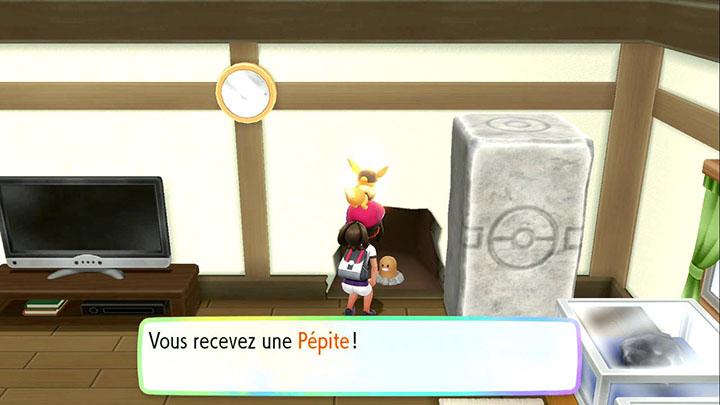 Pépite à Parmanie - Pokémon Let's Go Pikachu et Évoli