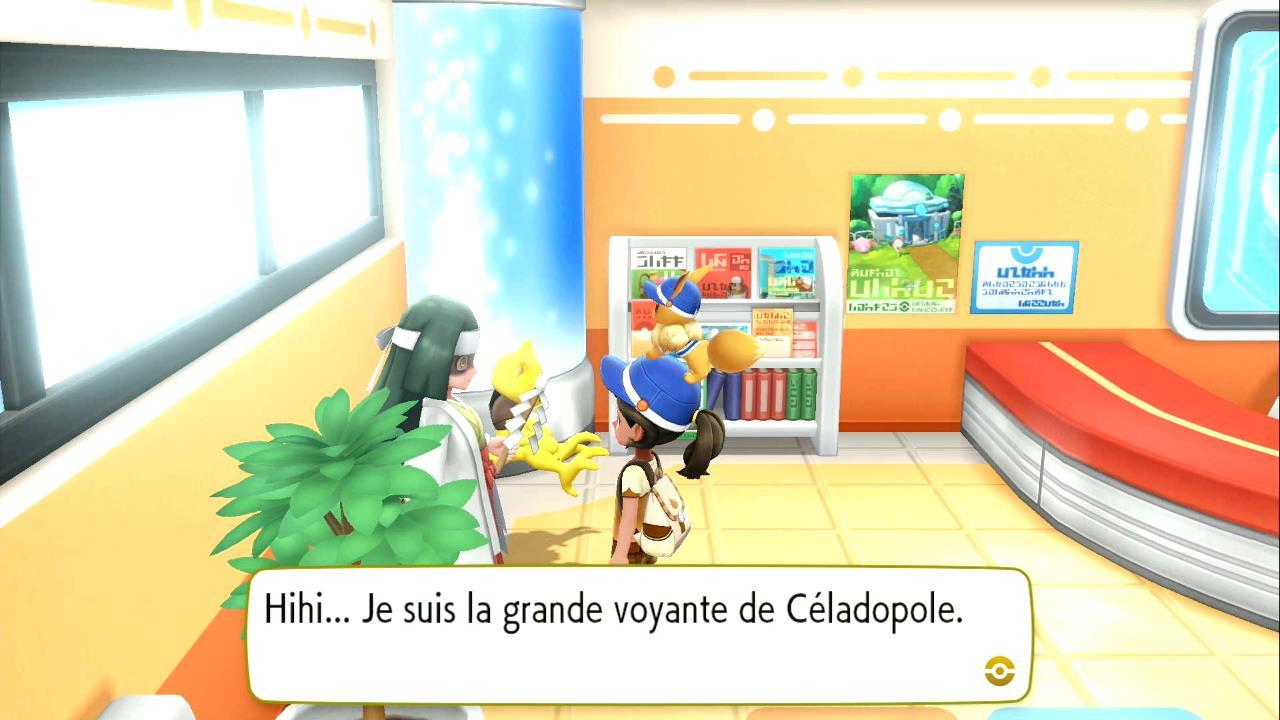 Influenceuse de nature - Événement quotidien sur Pokémon Let's Go Pikachu et Let's Go Évoli