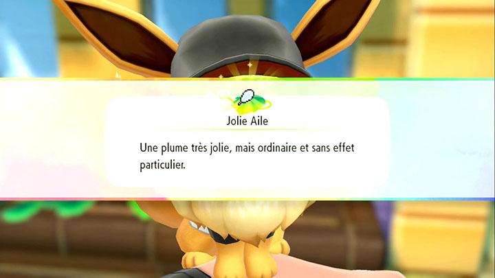 Objets trouvés par votre starter Pokémon Let's Go Pikachu et Let's Go Évoli