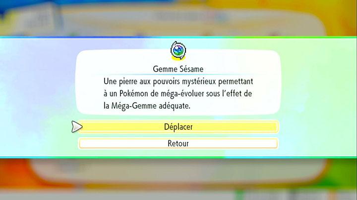 Localisation des Méga-Gemmes de Pokémon Let's Go Pikachu et Let's Go Évoli
