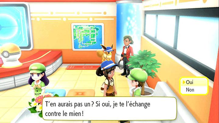 Échange interne à Céladopole -  Goupix d'Alola - Pokémon Let's Go Pikachu et Pokémon Let's Go Évoli