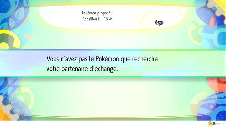Échange interne à Carmin sur Mer - Racaillou d'Alola - Pokémon Let's Go Pikachu et Pokémon Let's Go Évoli