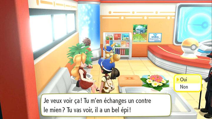 Échange interne à Lavanville - Taupiqueur d'Alola - Pokémon Let's Go Pikachu et Pokémon Let's Go Évoli