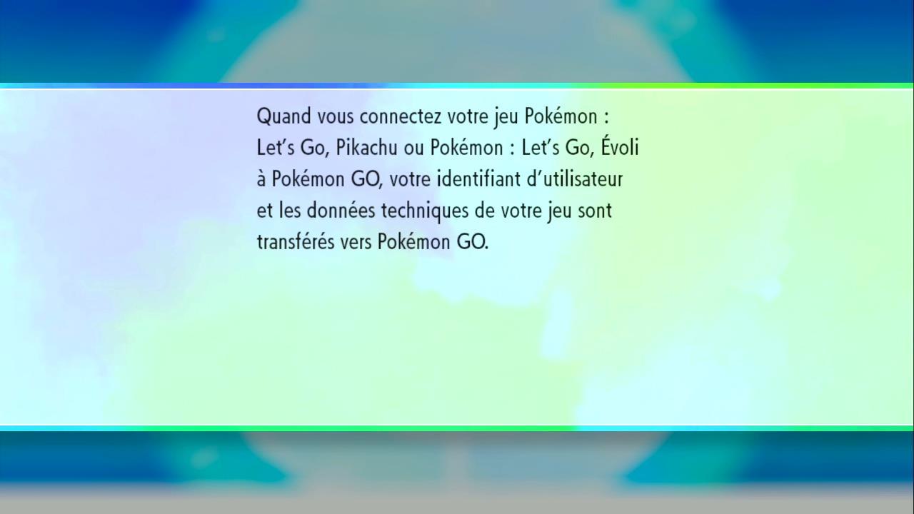 Associer son compte Pokémon GO à Pokémon Let's Go Pikachu et Let's Go Évoli