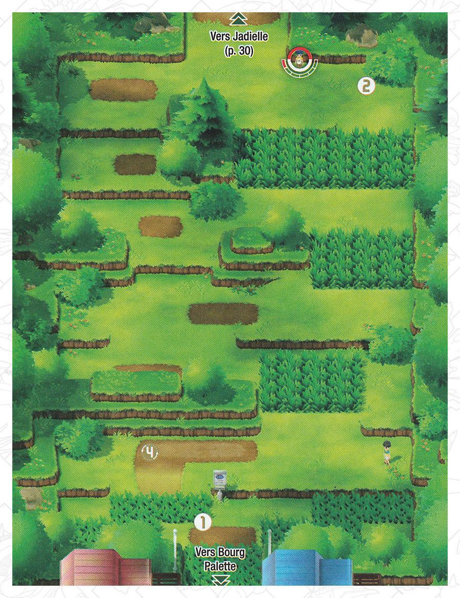 Route 1 Pokémon Let's Go Pikachu et Let's Go Évoli