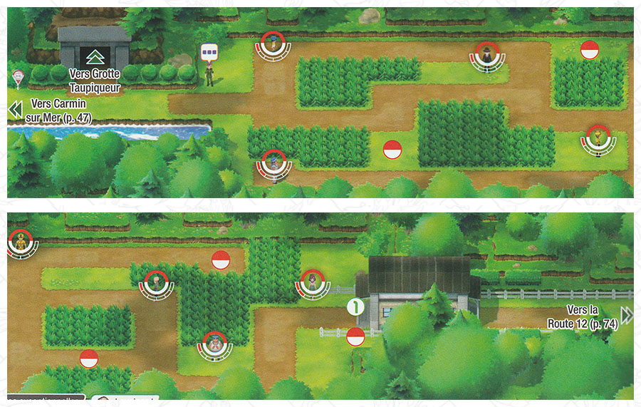 Route 11 Pokémon Let's Go Pikachu et Let's Go Évoli