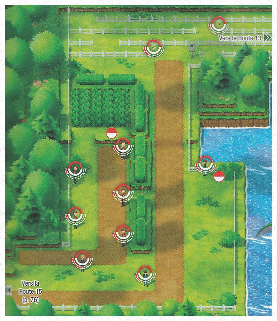 Route 14 Pokémon Let's Go Pikachu et Let's Go Évoli