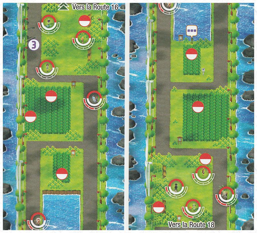 Route 17 Pokémon Let's Go Pikachu et Let's Go Évoli