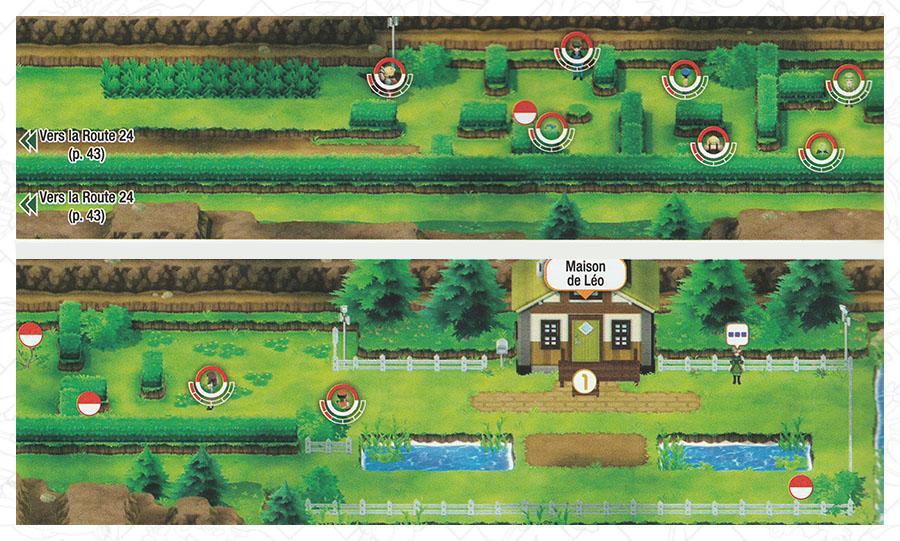 Route 25 Pokémon Let's Go Pikachu et Let's Go Évoli