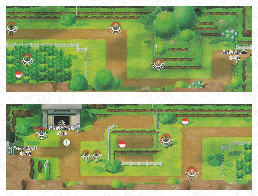Route 8 Pokémon Let's Go Pikachu et Let's Go Évoli