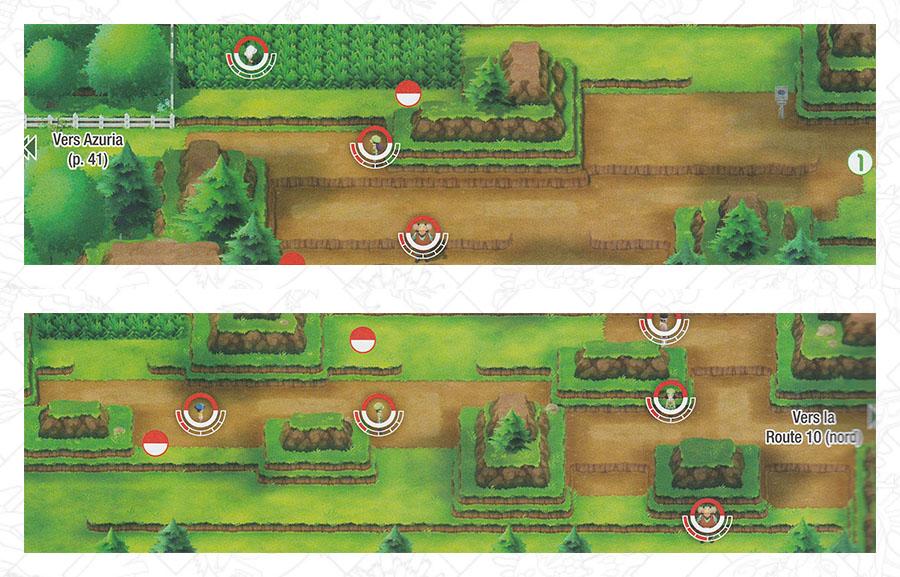 Route 9 Pokémon Let's Go Pikachu et Let's Go Évoli