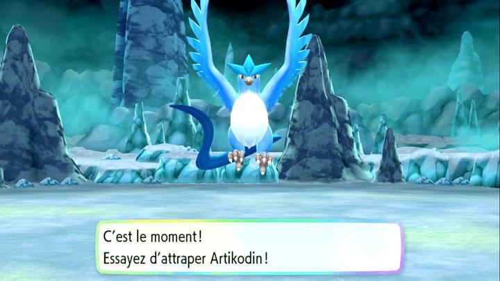 Capturer Artikodin sur Pokémon Let's Go Pikachu et Let's Go Évoli