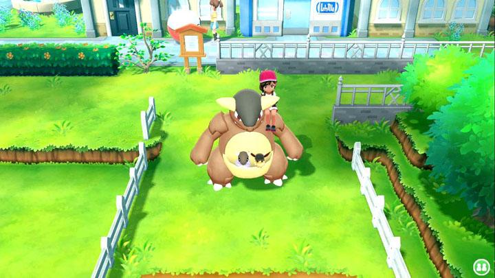 Monture Kangourex Pokémon Let's Go Pikachu et Évoli