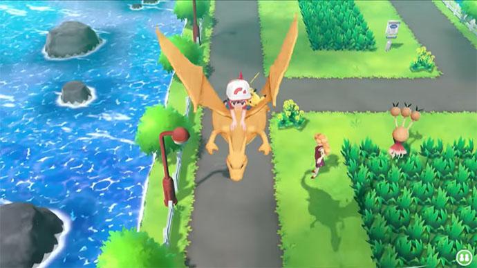 Monture Dracaufeu Pokémon Let's Go Pikachu et Évoli