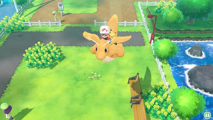 Monture Dracolosse Pokémon Let's Go Pikachu et Évoli
