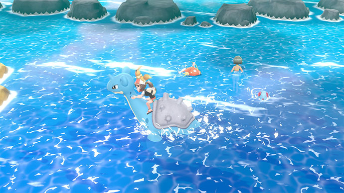 Monture Lokhlass Pokémon Let's Go Pikachu et Évoli