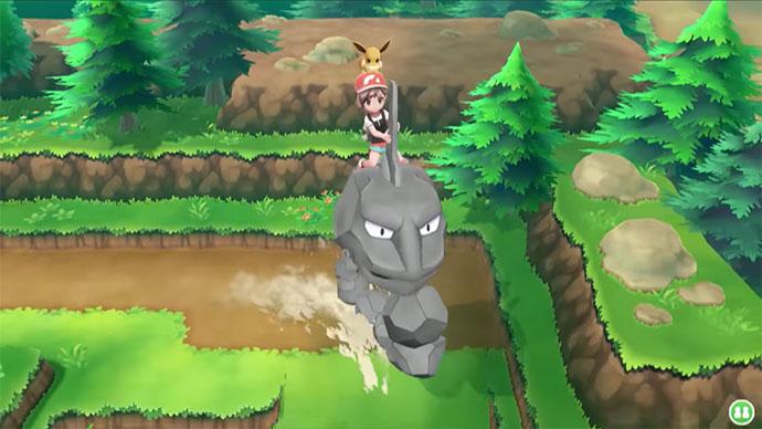 Monture Onix Pokémon Let's Go Pikachu et Évoli