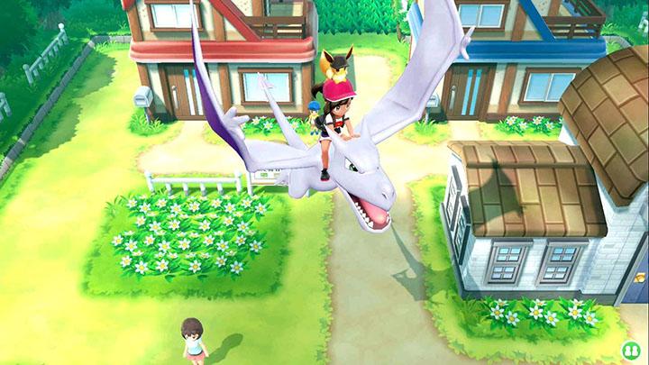 Monture Ptéra Pokémon Let's Go Pikachu et Évoli